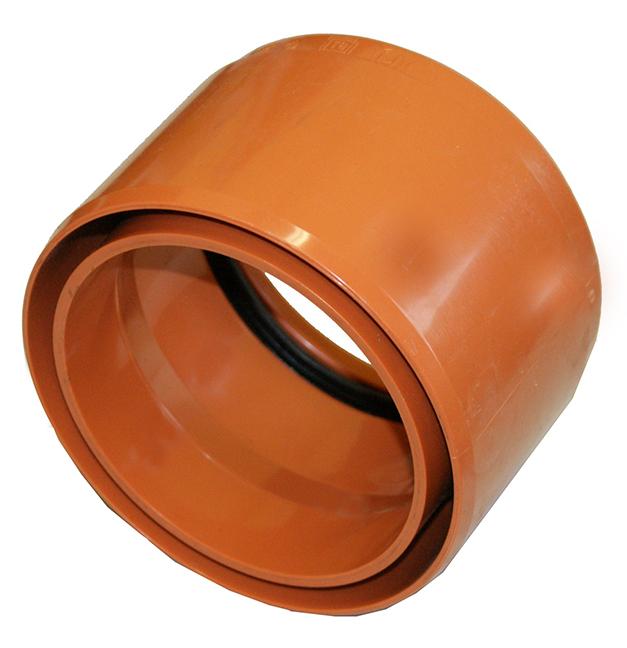 anschluss an muffe steinzeug muffe aus pvc inkl ga dichtungsset. Black Bedroom Furniture Sets. Home Design Ideas
