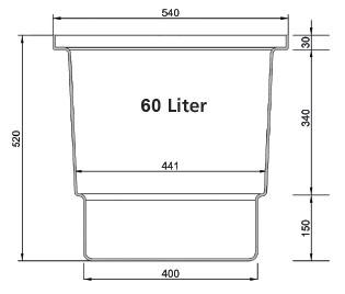 Garagenschacht 60 Liter
