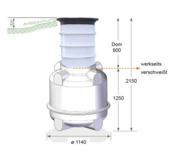 erdtank trinkwasserbehälter
